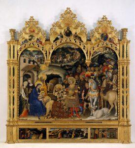 Read more about the article L'Adorazione dei Magi: un capolavoro di Gentile da Fabriano e dell'arte gotica internazionale in Italia